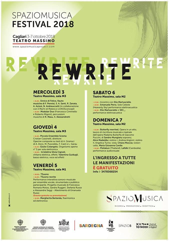 IN/ELEKTRA al REWRITE FESTIVAL – Cagliari 04/10/2018