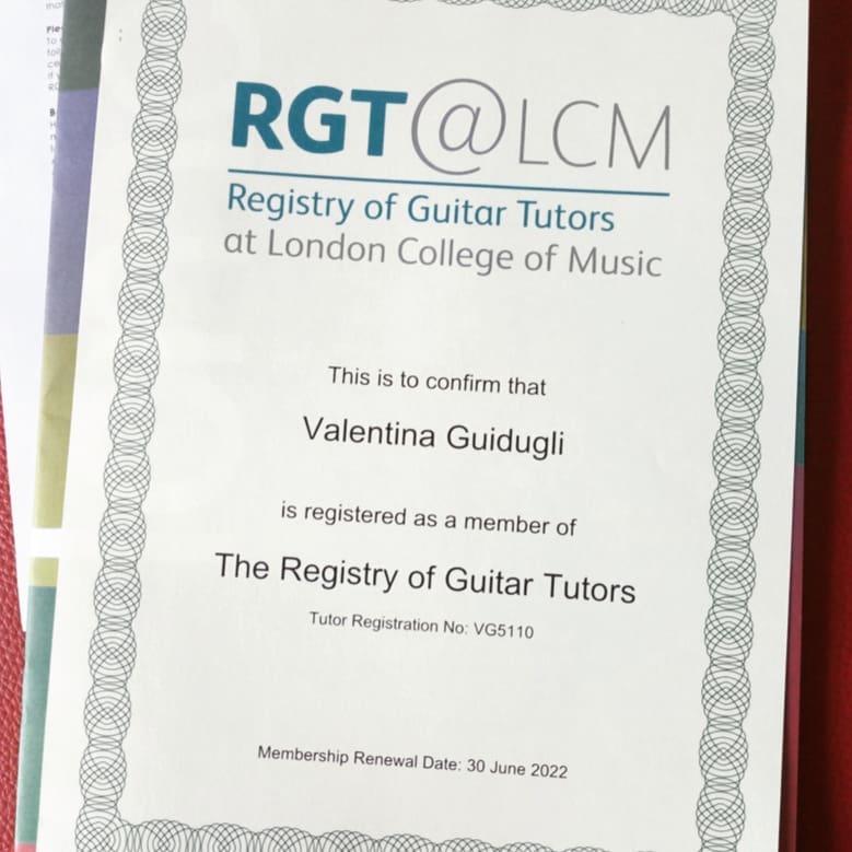Ufficialmente Tutor Certificato RGT @ LCM!