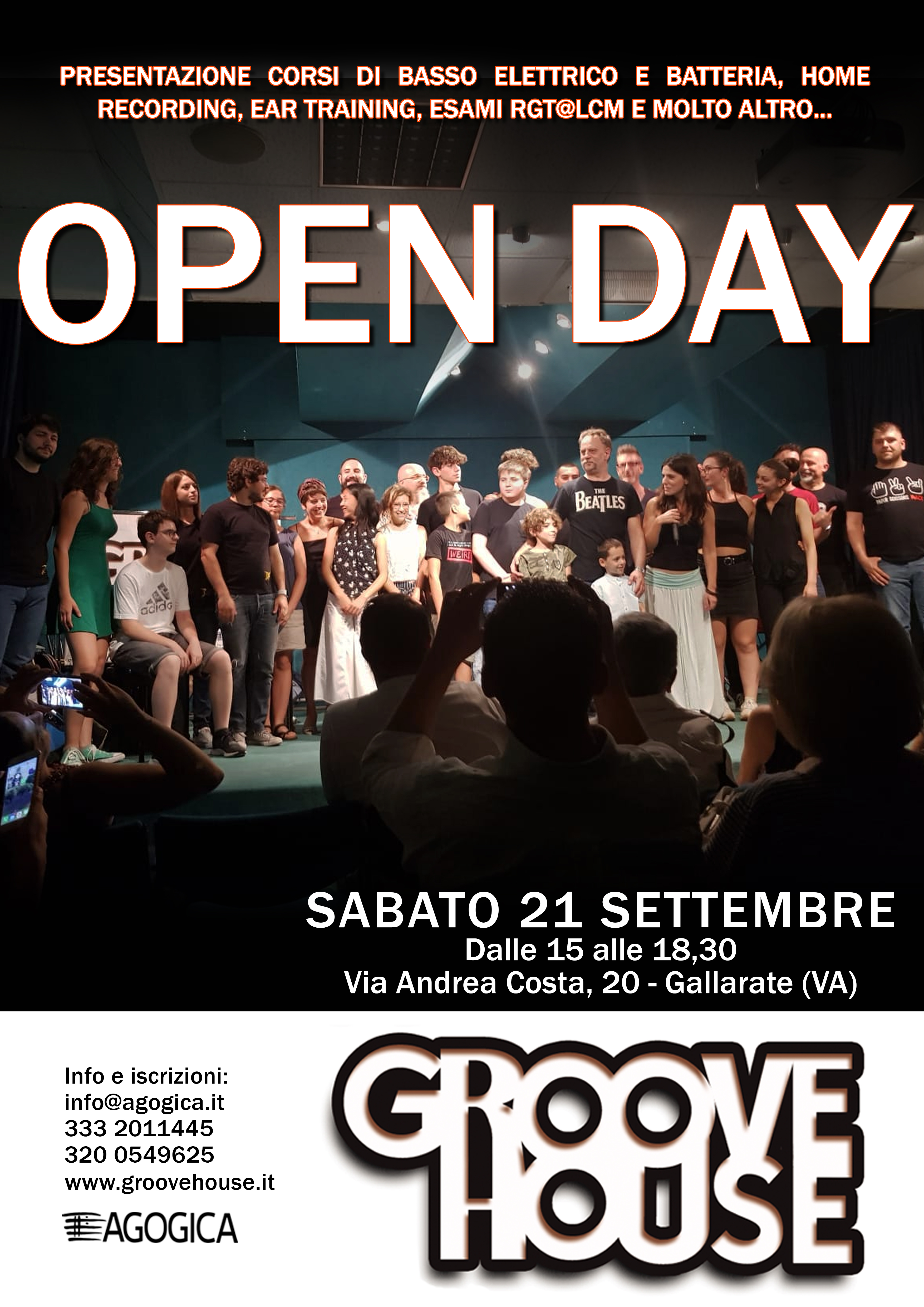 Sabato 21 Settembre 2019 : OPEN DAY GROOVE HOUSE!